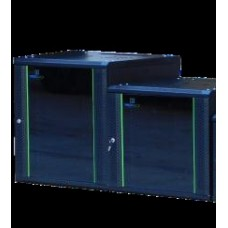 ProRack 12U 600*600 Wall mount cabinet with glass door, 1 fan, 1 shelf and 1 PDU 6 outlet