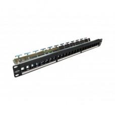 ProLink CAT. 6 S/FTP PATCH PANEL 8-PORT W/ WIRE MANAGEMENT