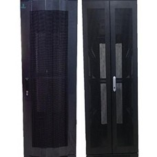 ProRack 27U 600*600 Standing network rack with glass door, 4 fans, 1 shelf and 1 PDU 8 outlet