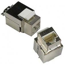 ProLink CAT 6A S/FTP KEYSTONE JACK Silver COLOR SLIM BODY TYPE
