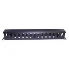 1U Metal cable management bar
